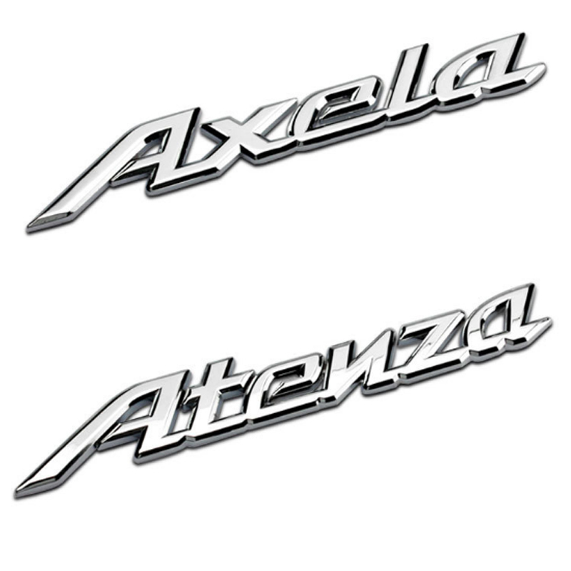 Dsycar 1 Pcs 3D Métal Atenza/Axela Side Car Fender Arrière tronc Emblème Badge Autocollant Stickers pour Mazda 6 Atenza Mazda 3 Axela