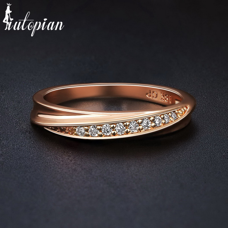 Iutopian Brand Elegant Ring For Women Cubic Zircon Jewelry