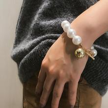 Handmade Pearl Bracelets Chain Fashion Personality Handmade Beaded Bracelets Temperament Pearl Joker Bracelets Jewelry Gifts faux pearl charm beaded bracelets set