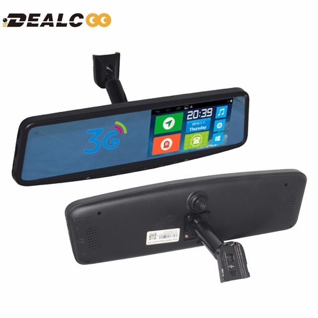 3G WCDMA 5.0 GPS de Navegación de 5 Pulgadas Cámara Del Coche DVR Bluetooth grabadora de Doble Lente de espejo retrovisor de vídeo Cámara de la Rociada leva dvrs