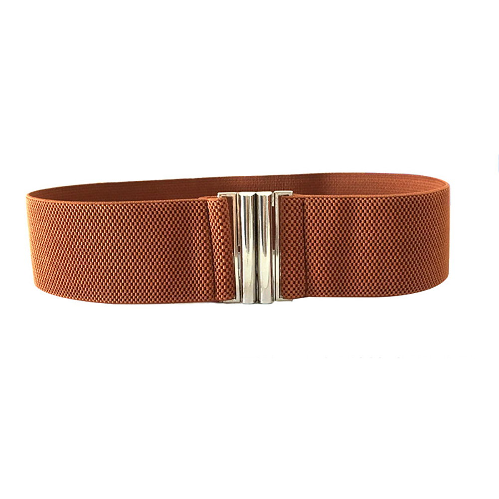 Waistband Soft Accessories Buckle Ladies Stretch Solid Korean Style Trimmer Durable Metal Elastic Waist Fashion Women   Belt