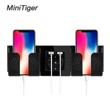 Minitiger черный серый настенный держатель для телефона Аксессуары для смартфона подставка поддержка для мобильного телефона один/два телефона держатель