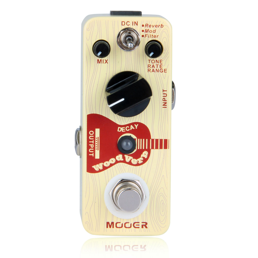 Mooer WoodVerb guitare acoustique effet Reverb pédale de guitare pleine coque en métal véritable conception de contournement