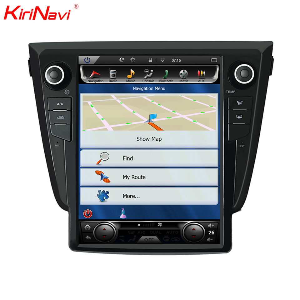 "KiriNavi 12.1"" Screen Android 7.0 For Nissan X trail Car DVD Radio Audio GPS Navigation Monitor Multimedia Play"
