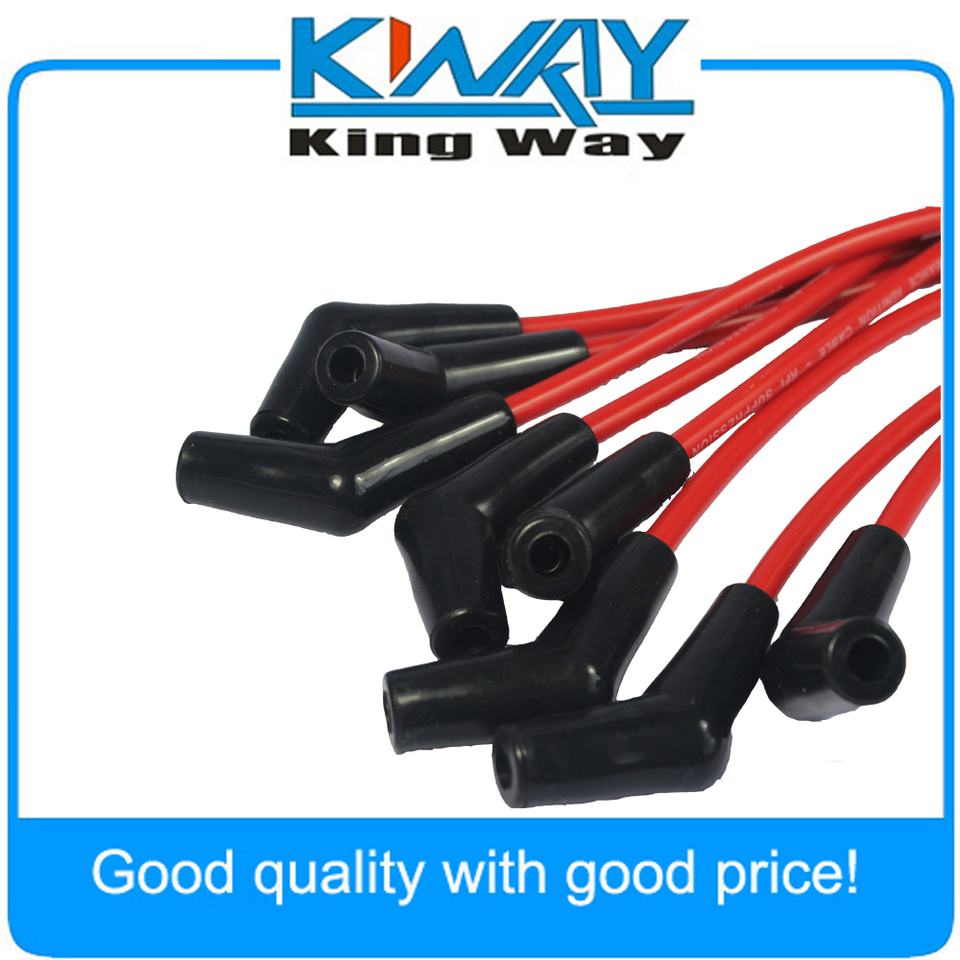 BBC CHEVY 396-427-454-502 HEI RED 8mm Spiral Core SPARK PLUG WIRES 45 DEGREE END