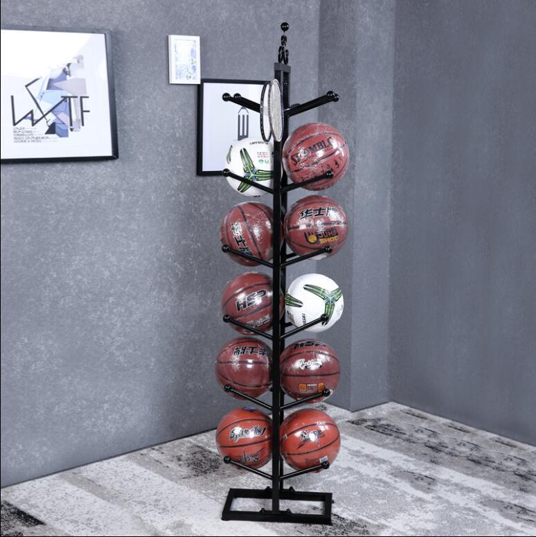 Support de basket-ball de fer, support de stockage de basket-ball, présentoir de football de basket-ball à la maison