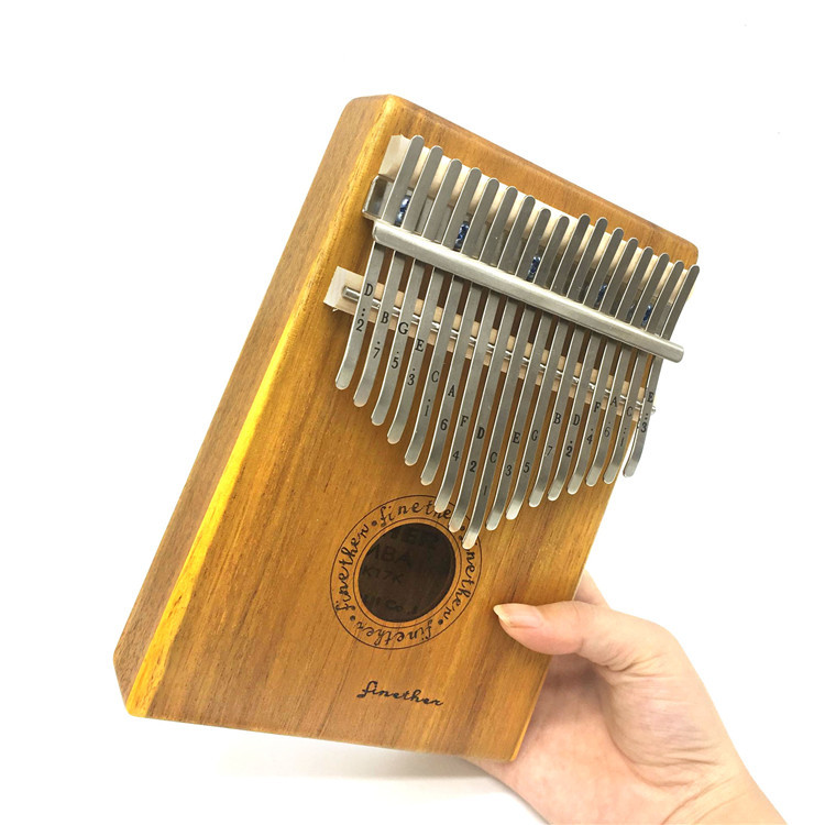 17 Key Finger Kalimba Mbira Sanza Thumb Piano Pocket Size Supporting Bag Gecko Keyboard Marimba Wood Musical Instrument marimba plus