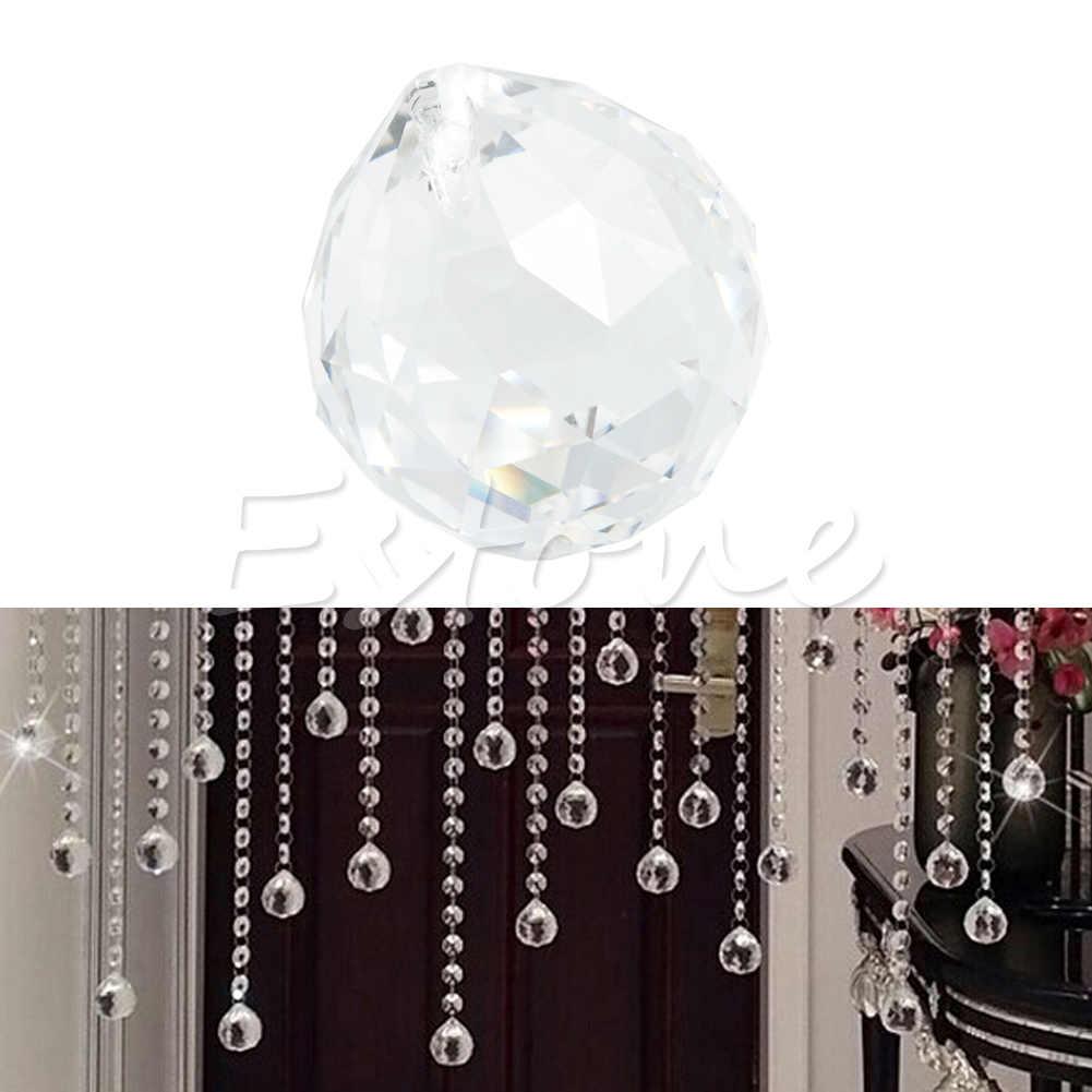 1 wyczyść kryształowa kula świetlna pryzmat Rainbow Sun Catcher Wedding Decor Home 20mm