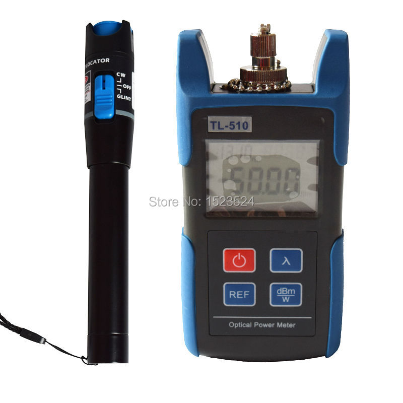 TL510C 50 26dB FC SC Connector Mini Optical Power Meter with TL532 Visual Fault Locator Cable