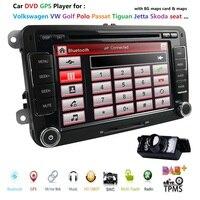 HD 7 дюймов, двойной din автомобильный стерео gps DVD навигатор для Volkswagen Golf, Volkswagen Polo Passat Tiguan Jetta EOS + США карта + камера емкостный экран DVB T DAB +