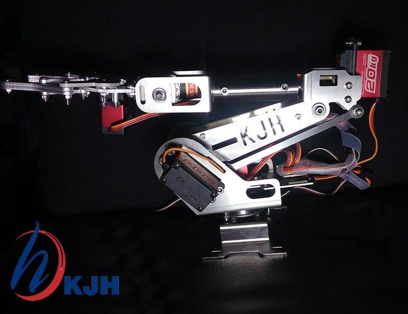 Πλήρως συναρμολογημένο 6-Axis Mechanical Robotic Arm Clamp Μεταλλικό ψηφιακό σερβοκινητήρα για Arduino, Raspberry mo Δωρεάν αποστολή