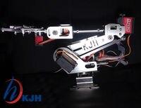 Volledig Gemonteerd 6 Axis Mechanische Robotarm Clamp Metalen digitale servo motor voor Arduino, Raspberry mo Gratis verzending