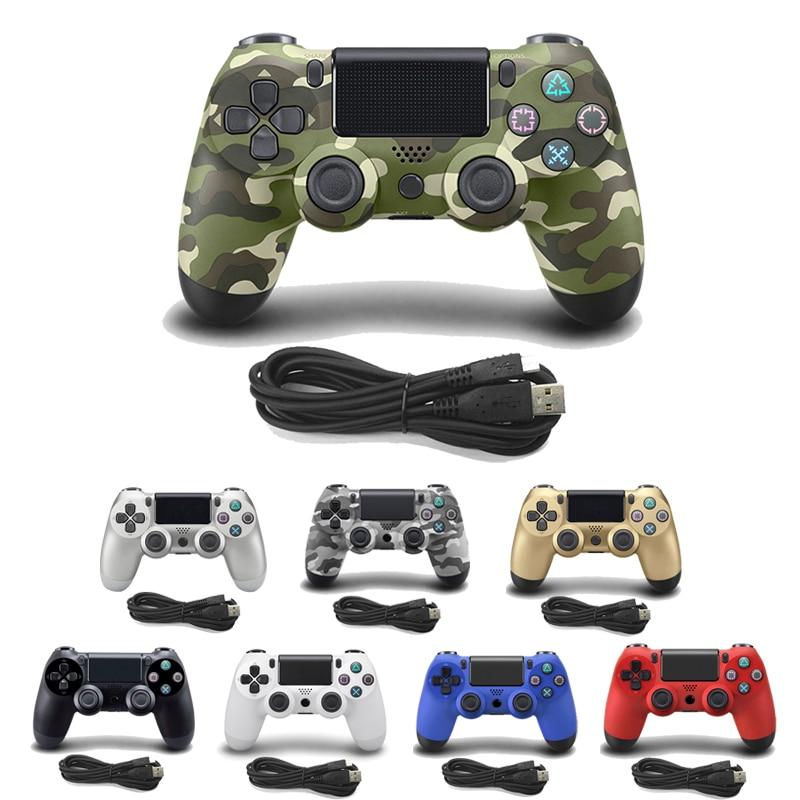 Para 4 PS4 Wired Controller Para PlayStation Joystick Para Dualshock Gamepad Do Console Para PC Win7 4/8/10 para PS3