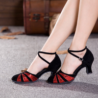 Hot Sell Tango Salsa Ballroom Women Latin Dance Shoes Heeled 3 5 5 5 7cm Dancewear