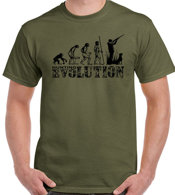 Evolution Mens Funny T Shirt Hunt Clay Pigeon Shooting Target Gun New Shirts