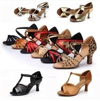 New Arrival Cheap Girls Women S Ballroom Tango Salsa Latin Dance Shoes 7cm Heel 22 Styles
