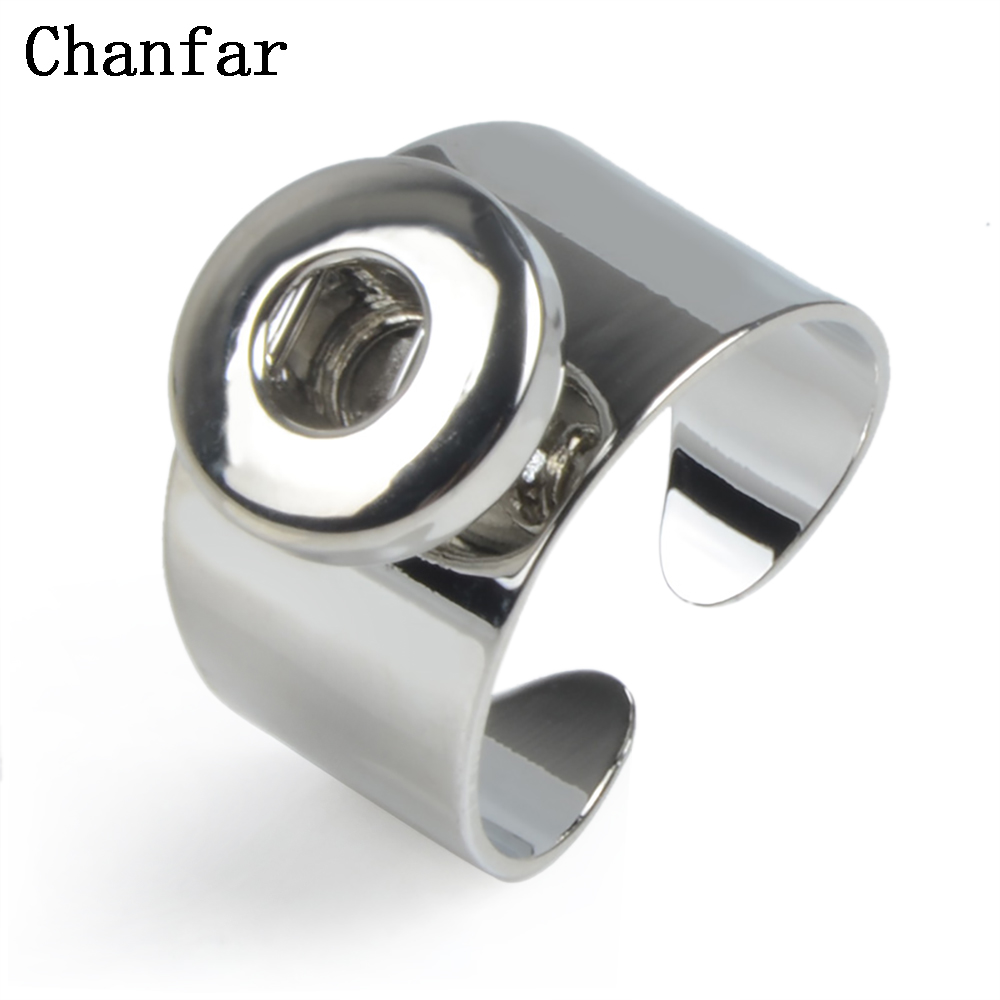 Chanfar 12MM Snap Button Rings Women Fit For 12mm Snap Button Party Ring image