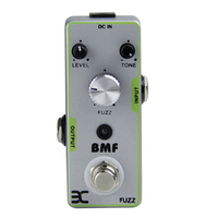 ENO EX BMF Fuzz Classic Fuzz sound Sturdy metal construction Three controllers (Volume, Sustain and Tone) True bypass