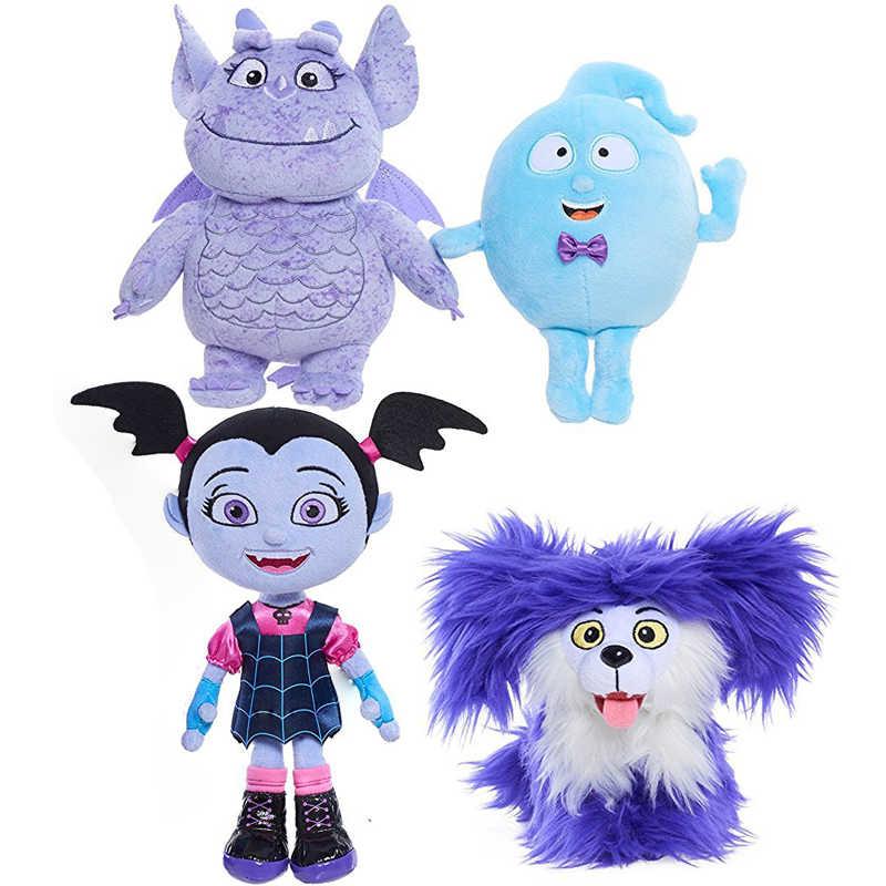 4 Styles Halloween Junior Vampirina Stuffed Plush Dolls Kids Cartoon Toy Gift Vamp Bat Girl Dog Toys Brinquedos Dropship