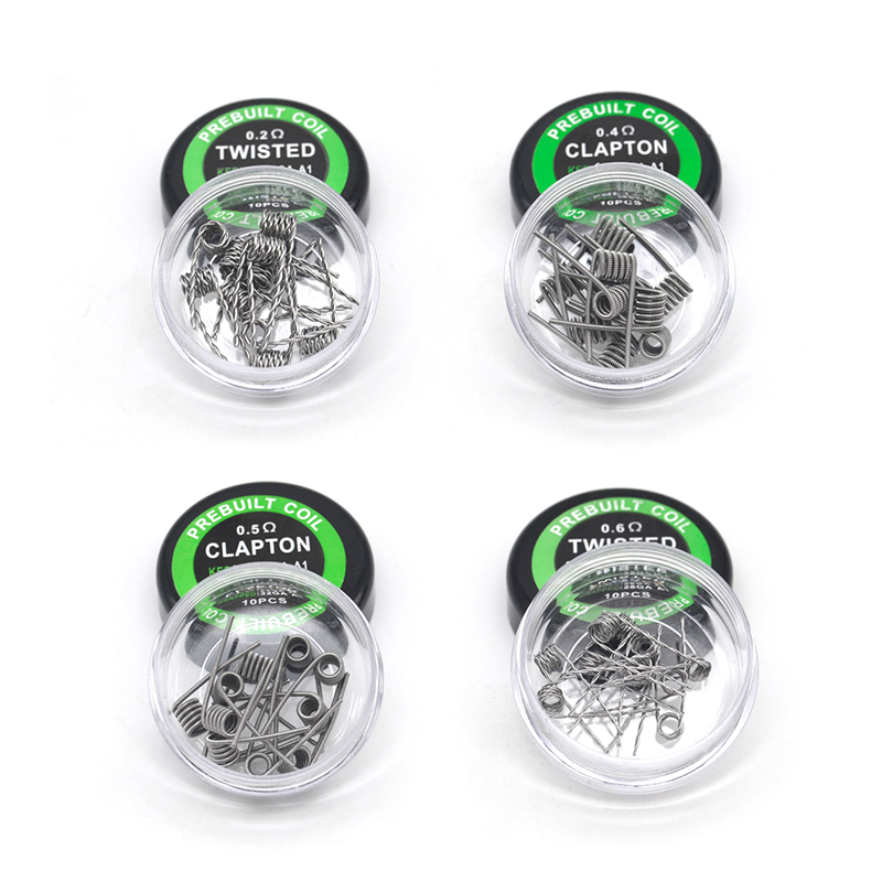 (10pc/lot)Original Pirate Coil Stainless Steel Heat Wire A1/Twisted/Clapton/Alien Prebuilt Coil  For RTA Vape Accessory