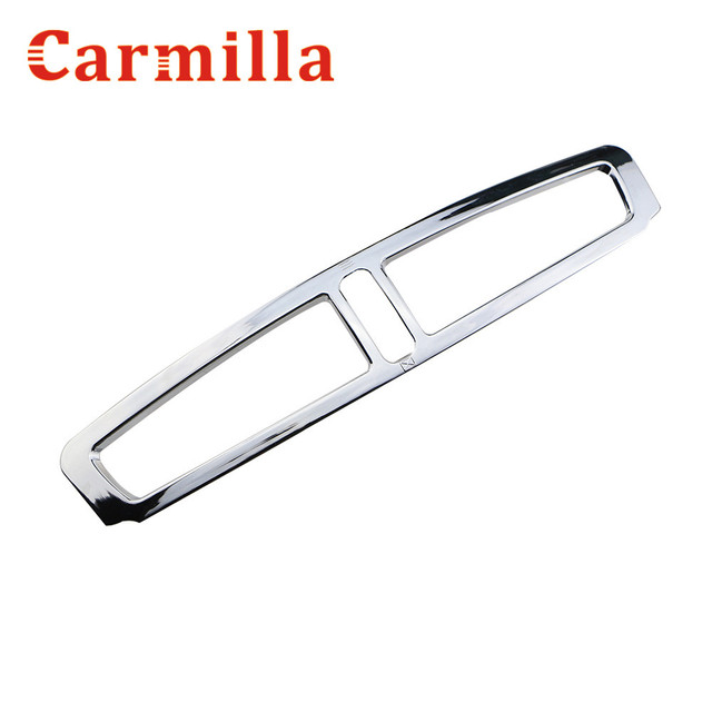 Carmilla Car Chrome Trim Sticker Air Conditioning Outlet Decoration Cover for Ford Kuga 2013 2014 2015 2016 2017 Modification