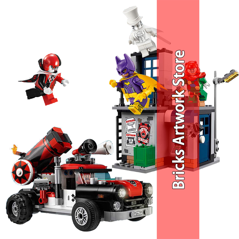 476pcs 07097 Batman Harley Quinn Cannonball Attack Set Model Building Blocks Toy for Kids Compatible Legoe Marvel 70921 ...