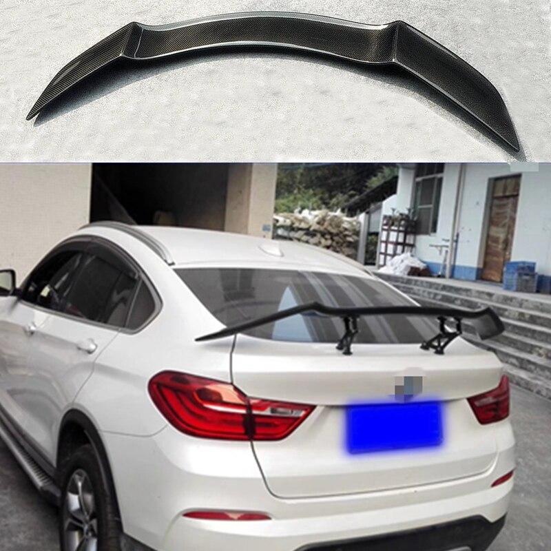 Décoration d'aile de coffre arrière en Fiber de carbone pour BMW F26 X4 2014 2015 2016
