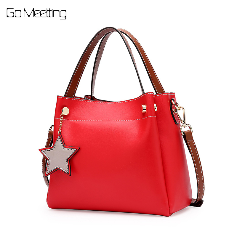 Go Meetting women bags for women 2018 Genuine leather handbag women messenger bag Sac A Main Female Shoulder Cross Body Bags barbie 2018 women s shoulder bag leather simple style black ladies handbag female fashion cross body bags for women