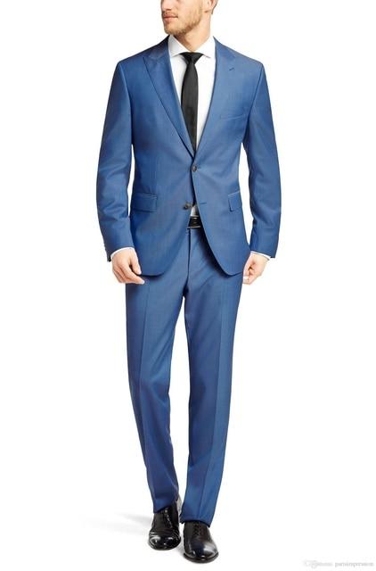 Nueva Moda 2017 de Alta Calidad de Los Hombres de Negocios Trajes Con Pantalones Novio chaqueta Para Hombre Traje Boda Del Novio Esmoquin Para Hombres Personalizado hecho