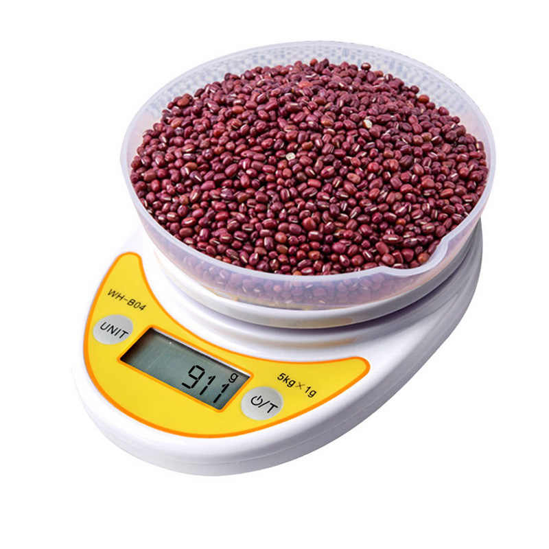 1Pcs 5kg/1Kg 0.1/1g LCD Display Digital Scales High Precision Kitchen Scales Electronic Scales Measuring Weight for Baking Tea