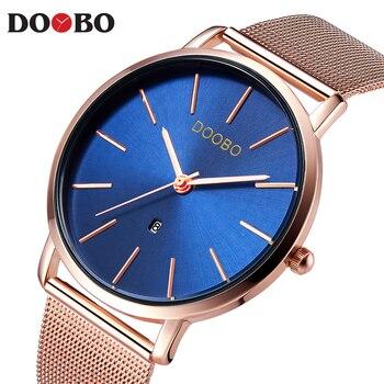Luxury Brand DOOBO Men Watch Ultra Thin Stainless Steel Clock Male Quartz Sport Watch Men Casual Wristwatch relogio masculino дамски часовници розово злато
