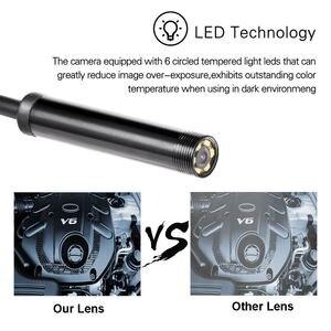 Image 5 - 1/1. /2M Mini Endoskop Kamera 7MM 6LEDs Ayarlanabilir IP67 Su Geçirmez Muayene Borescope Kamera Pencereler Için Macbook PC Android