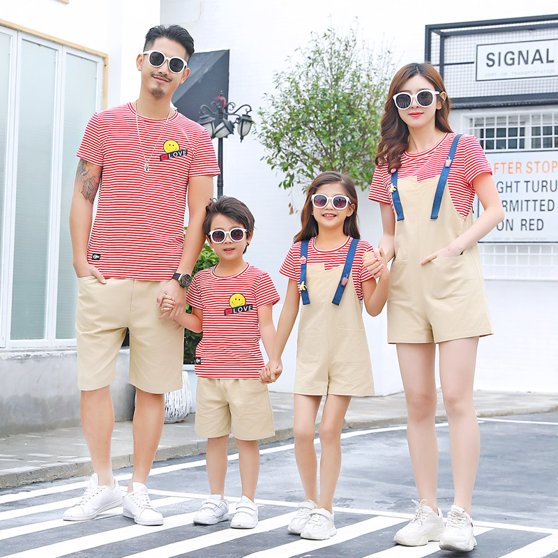 Set of family matching clothes | Suspenders, Tshirt, Shorts