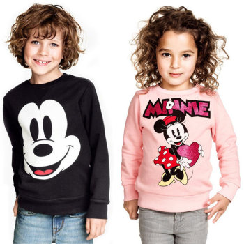 Boys Girls Mickey T shirt Spring Autumn Long Sleeve Cartoon T Shirts Kids Print Casual Clothing Children Sweatshirt Top mickey minnie clothing girls boys kids spring autumn long sleeve casual hoodies sweatshirt skirt shorts legging 2 pcs sets
