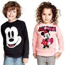 New Boys Girls Mickey T shirt Spring Autumn Long Sleeve Cartoon T Shirts For Kids Minnie Casual Clothing Children Sweatshirt Top стоимость