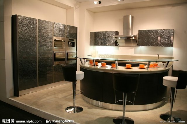 modern design lacquer  kitchen cabinet in excellent finished