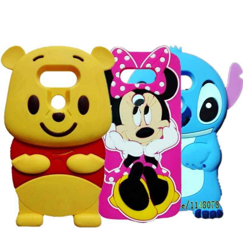 For LG G5 Cover 3D Cartoon Stitch Winnie Bear Minnie Mouse Rubber Silicon Case For LG G5