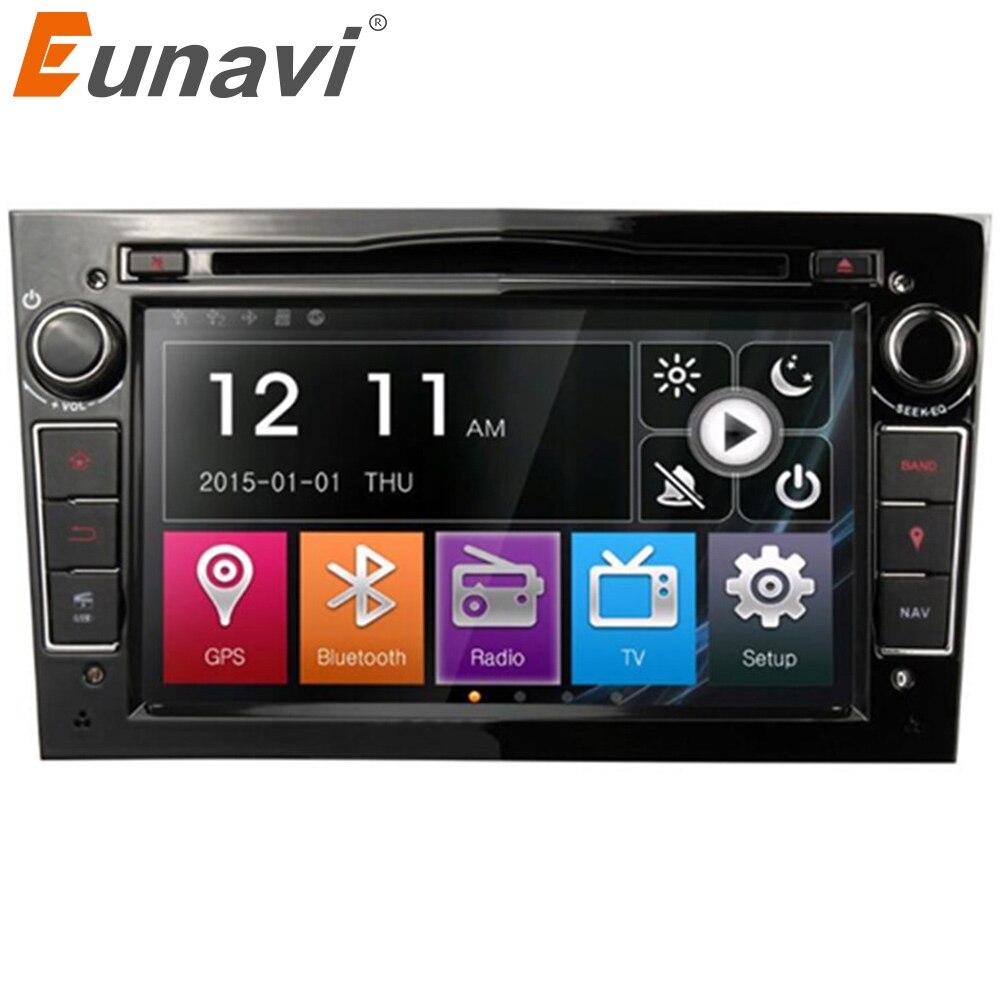 Eunavi 2 Din samochodowy odtwarzacz dvd odtwarzacz w desce rozdzielczej radio samochodowe stereo dla Vauxhall Opel Astra H G J Vectra Antara Zafira Corsa z GPS 3G Wifi