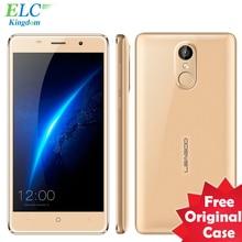 Original Leagoo MT6580A M5 Teléfono Móvil Android 6.0 Quad Core 2 GB + 16 GB 5.0 pulgadas Marco de Metal 3G WCDMA Teléfono Móvil de IDENTIFICACIÓN de Huellas Dactilares