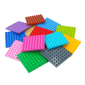 Duploes Large Size Base plate Building Blocks 8x8 Dots DIY Plate Toys Compatible with Duploes large particles Toys For Children