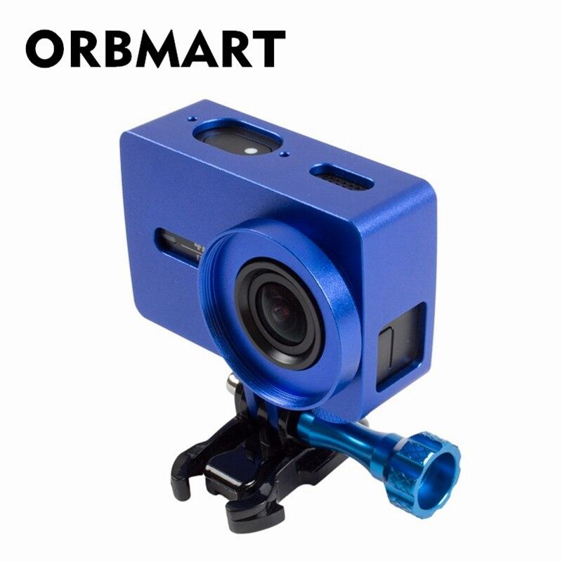 ORBMART Metallrahmen Schutzhülle + 37mm UV Filter Für Xiaomi Yi 2 Xiaoyi 2 4 Karat Action-sport-kamera CNC Aluminium Abdeckung