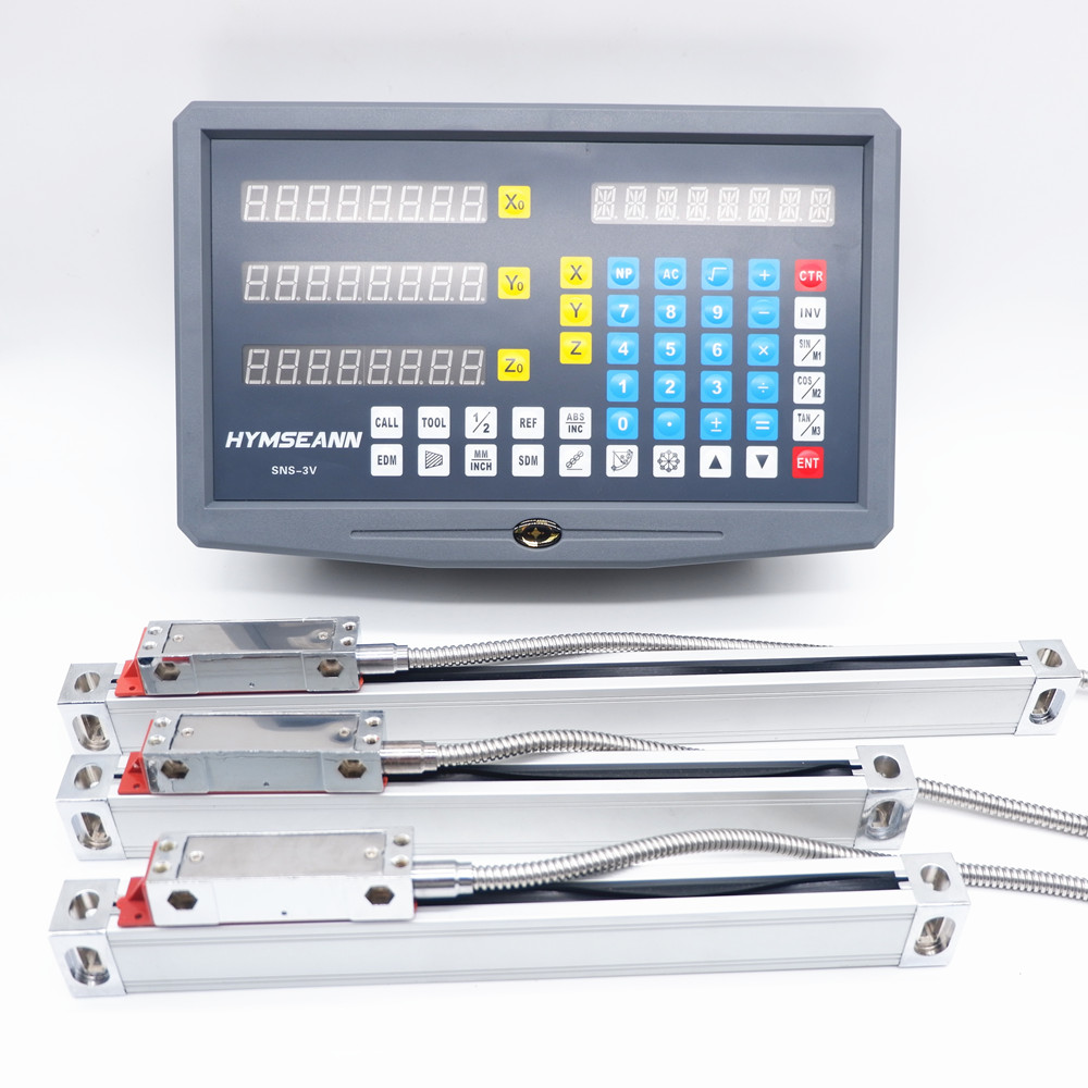 New SNS 3V Complete Milling Lathe Machine DRO Digital Readout Kit AC110V 220V Display and 3