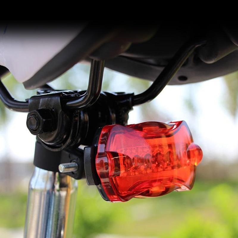 LED Bike Light 5 LED Rear Tail Daytime Running Light Red Bike Bicycle Back Light Rear Tail Parking Light