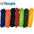 YOUGLE 15 Meters 850 LB 11 Strands Cores Parachute Cord Paracord Safety Rope Lanyard 6.5mm Diameter Outdoor Camping Hiking