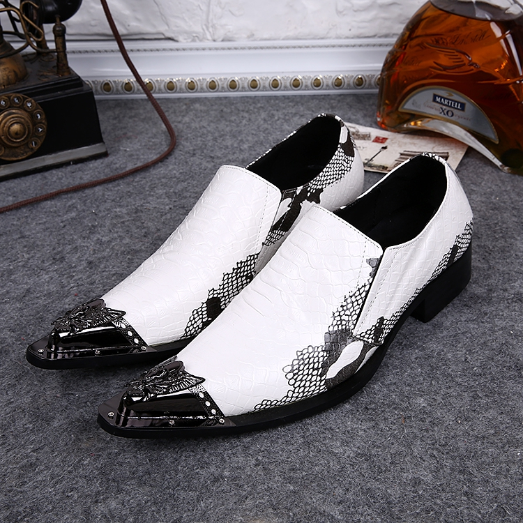 Men Leather dress shoes white wedding mens formal shoes pointy steel toe flats classic shoes for men zapatillas hombre classic style classic mens dress shoes deep coffee color genuine leather oxford shoes for men lace up pointy loafers high heels