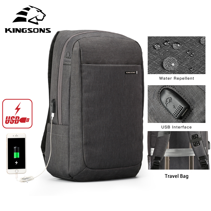 Kingsons 2018 Men Backpack Anti Theft Travel Bag Waterproof Backpack Male New Work Travel Mochila Bagpack Pack Design Anti Theft все цены