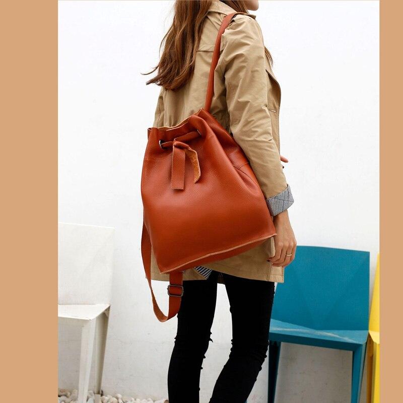 Bagaj ve Çantalar'ten Sırt Çantaları'de ZENCY Yeni 2019 Moda 100% Yumuşak Doğal Hakiki Deri omuz sırt çantası Kadınlar Bayanlar Kızlar İlk Katman Sığır Derisi Okul Çantaları'da  Grup 1