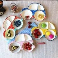 Car Shape Ceramic Cartoon Children Dinner Plate Dinnerware Dish Tableware Breakfast Plate Snack Fruit Plate