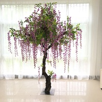 artificial wisteria tree Large simulation tree Hotel lobby plaza mall artificial plant fake tree Interior and exterior decoratio