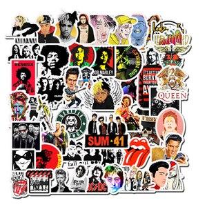 Image 1 - 50 Uds. De pegatinas de Hip Hop Rock & Roll, pegatina de Graffiti con personajes de dibujos animados, juguetes para monopatín, calcomanías de bicicleta para ordenador portátil F5
